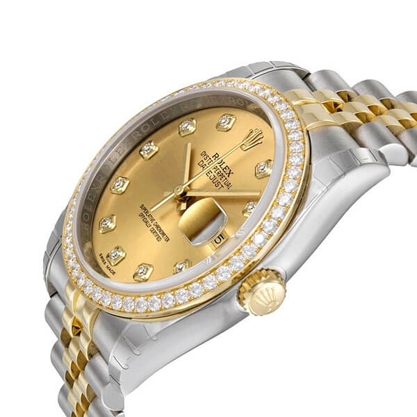 replica reloj dayjust diamantes