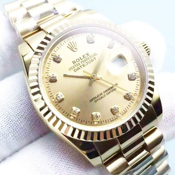 replica rolex oro frontal