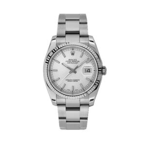 Datejust 116234 date just dial blanco